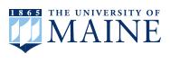 The University of Maine logo